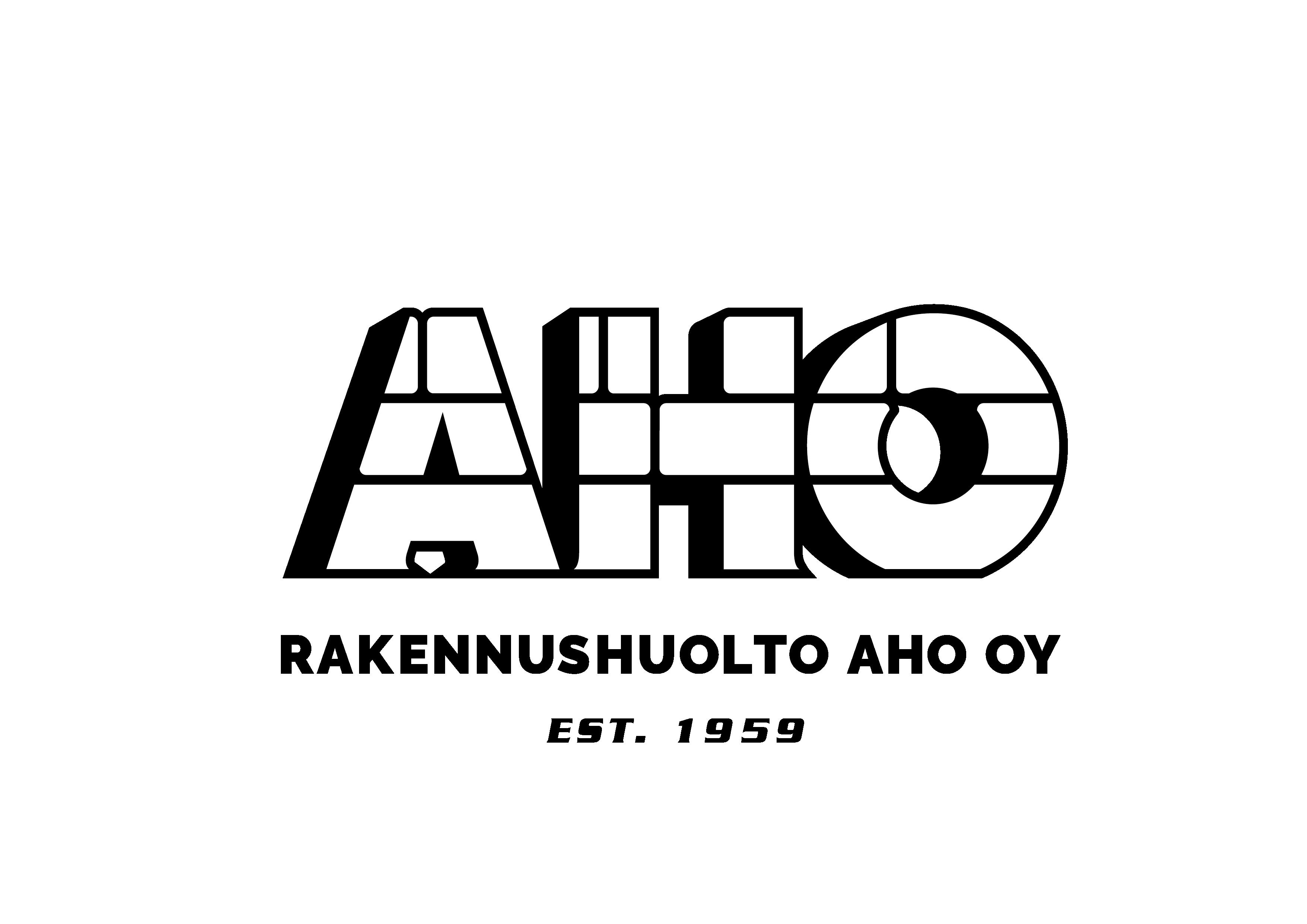 Rakennushuolto Aho 60-vuotta -logo